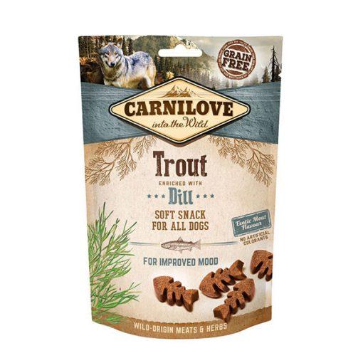 Carnilove Soft Snack Trout & Dill (pisztráng & kapor) puha falatok 200 gr