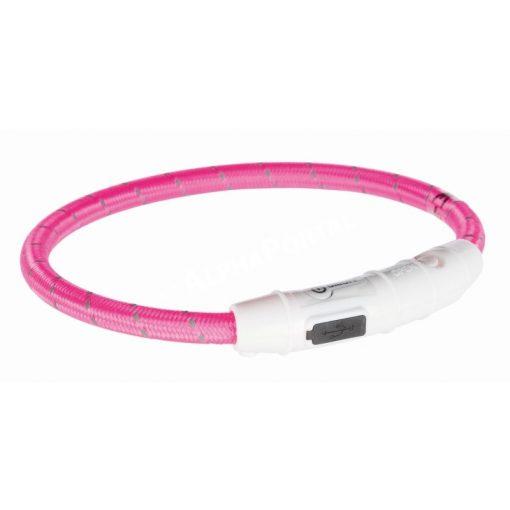 Trixie világító nyakörv USB töltővel pink 35 cm